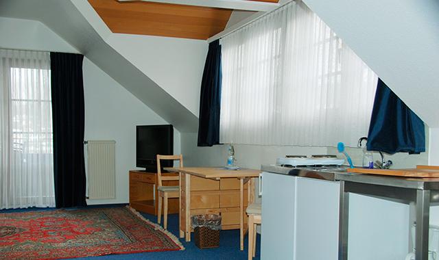 Ferienwohnung mit Wohnzimmer und Küche